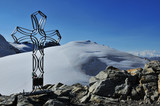 The summit of the Tete de Valpelline (3802m) in Swiss Alps