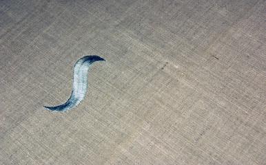 Bordado en tela de lino