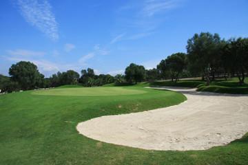 Golfplatz - Sandbunker und Green