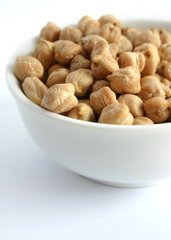 Chickpeas on a bowl