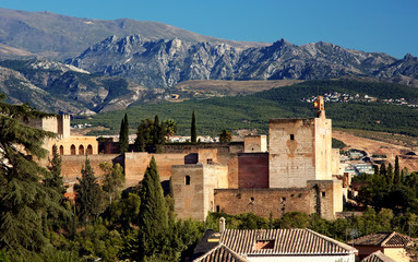 Alhambra at the evening, Granada, Spain
