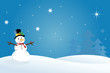 Snowman Christmas / Winter Scene - 9849982