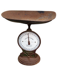 Old Postage Scales isolated with clipping path
