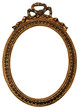 Old Oval Gold Wood Mirror Frame with Ornaments
