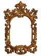 Old Gold Wood Mirror Frame with Ornaments