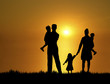 family at sunset 3