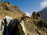 Happy women trekking in the Atlas mountain poster
