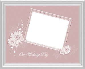 Elegant Wedding Day Picture Frame with Isolated clipping