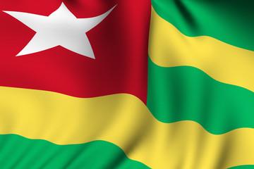 Rendered Togolese Flag