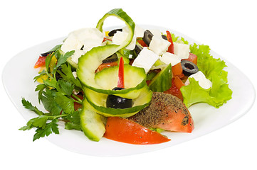 Salad with moldavian Brynza
