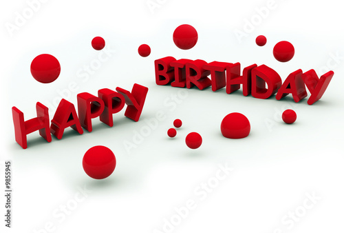 happy birthday text on white background