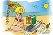 businesswoman on holidays