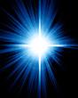 Bright sparkling star on a dark background