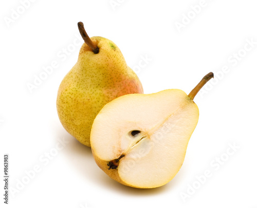 white background picture. pear on white background