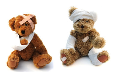wounded teddies