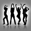 Mujeres jovenes Bailando