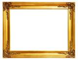 régi antik arany keretben több mint fehér háttér vágógörbe