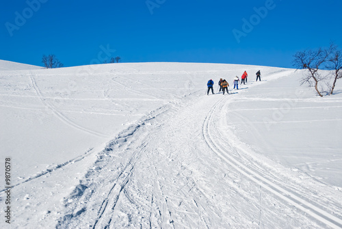 Skiing up the hill 1