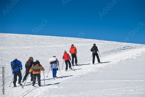 Skiing up the hill 2