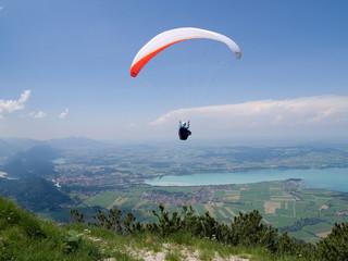 Paragliding in Bavaria, Fuessen