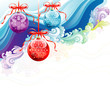 Beautiful Christmas ornaments background, vector layered.