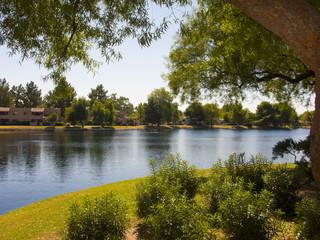 Apartment Lake Housing Community in city of Phoenix , AZ
