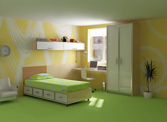 childroom interior modern design (3D image)