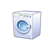Washing machine detailed vector icon