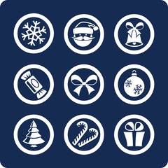 Christmas and New Year 9 icons  (set 1, part 1)