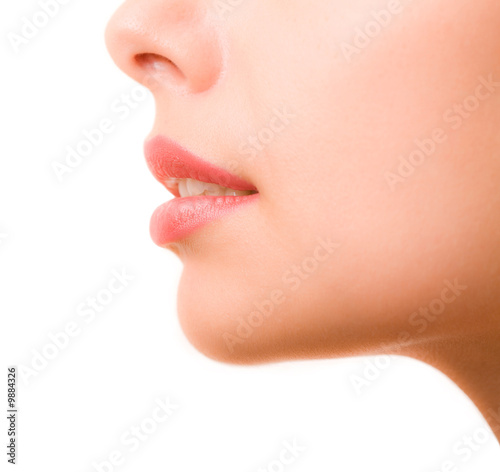 Profile of feminine face