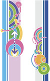 Elements of the disco-style graphic design in vectors. poster