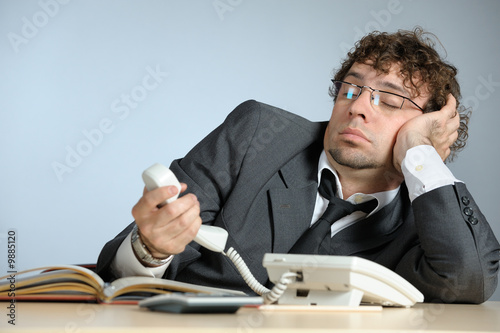 Lazy businessman - 9885120