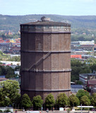 old rusty silo in the industrial sector of Gothenburg poster