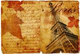 autumn in Paris- vintage letter