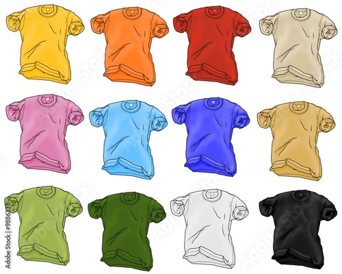t-shirt 12 colors