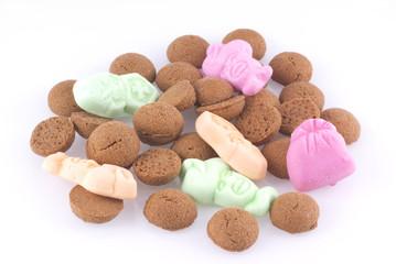 Dutch candy eaten during a holiday called sinterklaas.