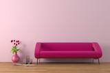 Fototapety Modern interior with sofa