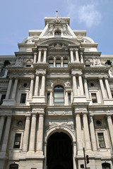 The entrance to City Hall in Philadelphia