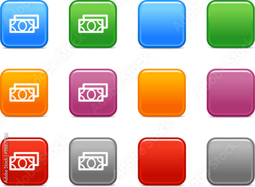 Color buttons with money icon 4