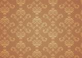 elegant Victorian retro motif wallpaper Pattern poster