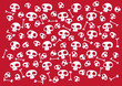 roleta: Pattern made of funny skulls and bones