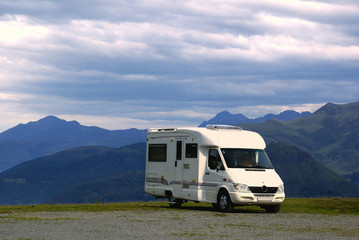 Camping car montagne