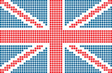 dotted flag of United Kingdom poster