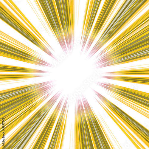 A bright abstract vortex illustration in yellow.