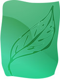 Illustration of a leaf smooth zen lineart poster