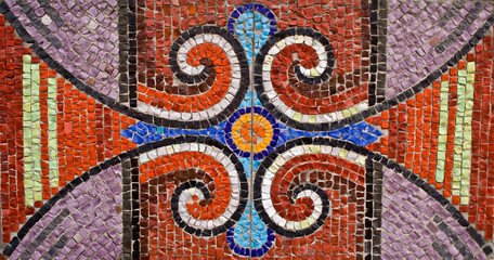 mosaic on the wall of house