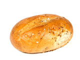 Bakery foodstuffs on white background - Shot in a studio poster