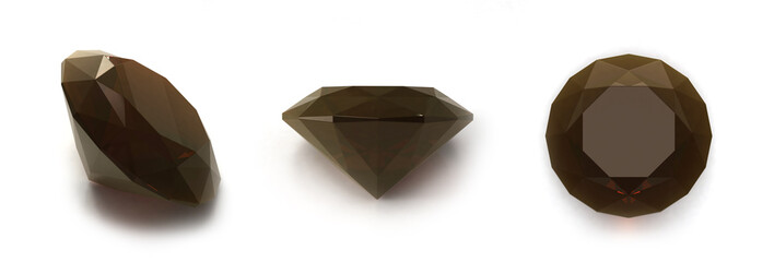 Smoky quartz gems