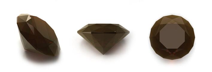 Smoky quartz gems