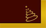 weihnachten gold-braun poster
